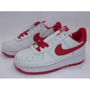 Hot Kids Nike Air Force 1 Low White Red