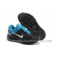 Nike Air Max 2013 New Releases Shoes For Kids Black Blue Cheap