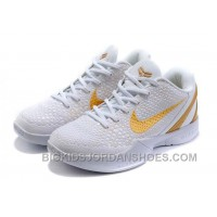 For Sale Nike Kobe VI Kids White Yellow White