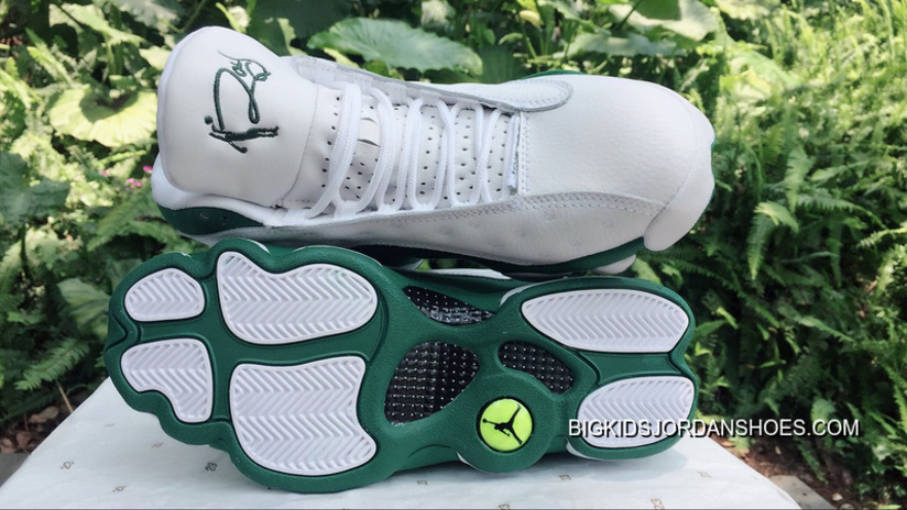 AJ13 Air Jordan 13 Allen Ray White Green Best Tf6E6Nn