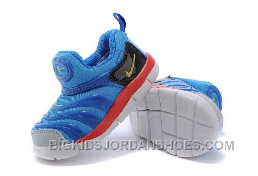 Hot Nike Anti Skid Kids Wearable Breathable Caterpillar Running Shoes Online Store Navy Blue Black White